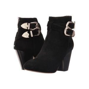 RAYE Vivienne black suede leather boots